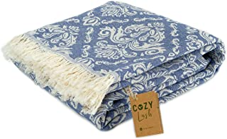 "Cozy Orientale | 100% Cotton Original Turkish Beach Towel (37"" x 67"") - Pre-Washed Peshtemal, Pool, Gym, Spa, Hammam, Kitc..."
