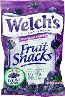 Welchs Grape Fruit Snacks, 5-Ounce (Pack of 12)