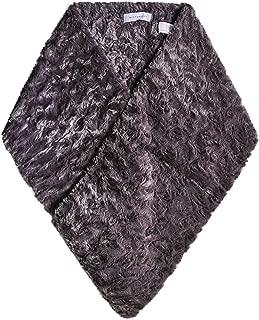 Rino and Pelle Women's Feza Faux Fur Scarf Grey