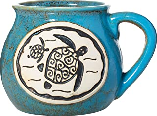 Cape Shore Handcrafted Bean Pot Stoneware 16oz Mug, Multiple Styles Available (Turtle)