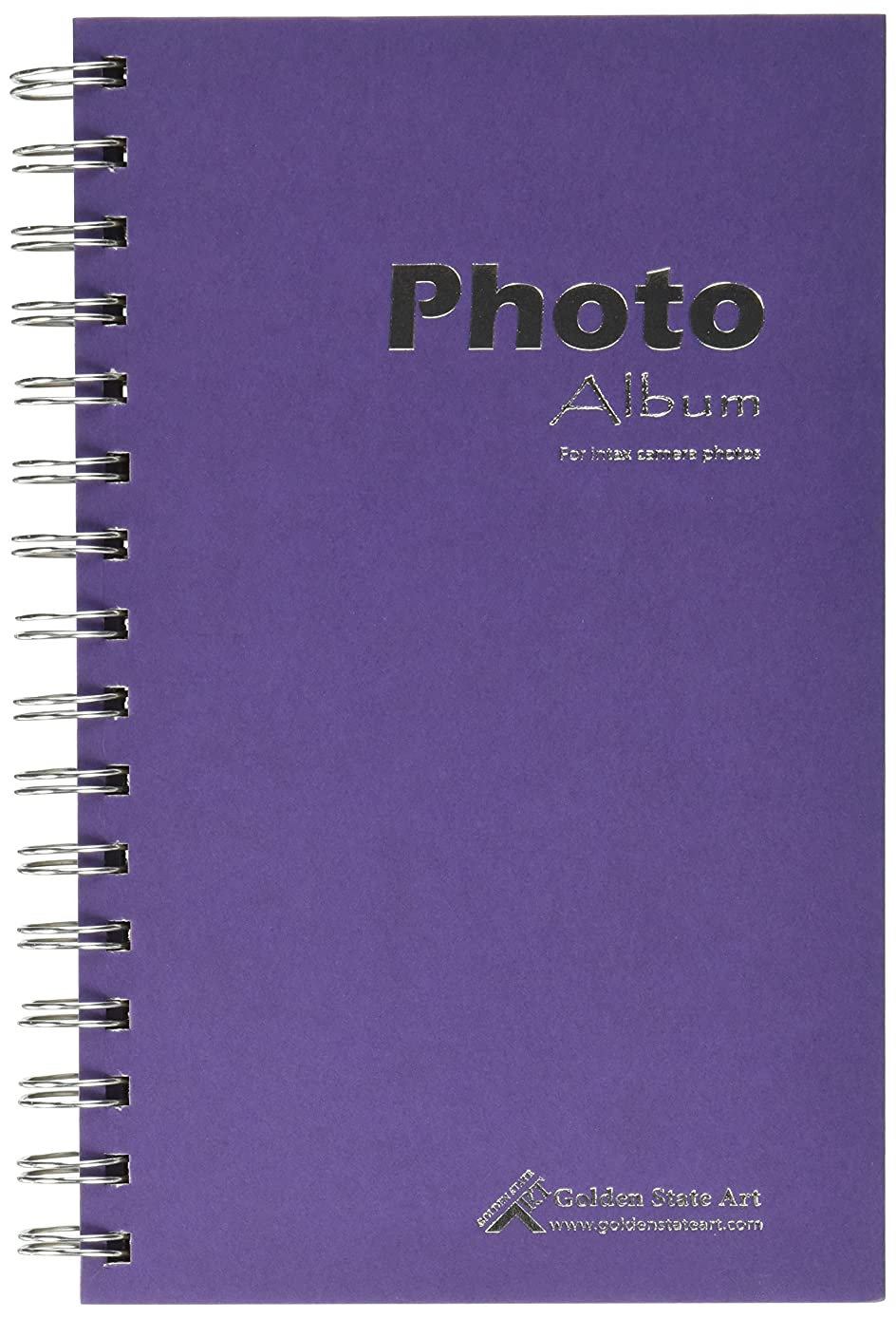Golden State Art, Purple Photo Album Book Style, 60 Pockets, Instax Frames Collection, for Camera Fuijufilm Instax Mini 7S 8 70 90 25 50S 8+ Film