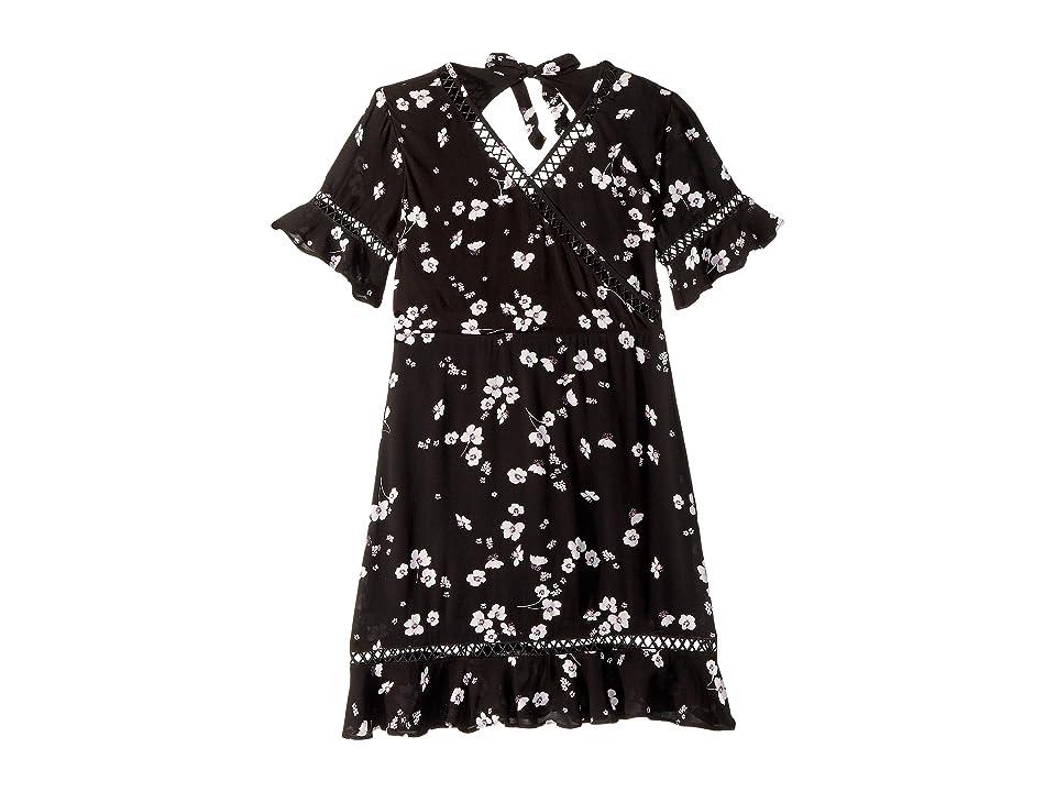 Bardot Junior Shelby Flutter Dress (Big Kids) (Black Ditsy) Girl