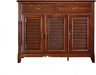 KELINSHENG freestanding, Roller shutters, Shoe cabinets, lockers with Drawers and Storage Boxes, Kitchen cabinets, Wooden Entry lockers, Brown