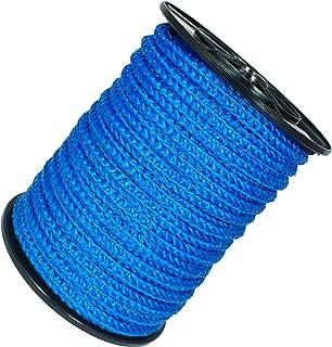 50m Kunststoffseil 12mm 1200kg grün beige blau schwimmfähig Polyprolylen PP-Seil Seil Tau salzwasserbeständig