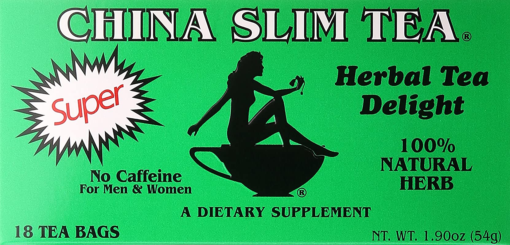 China Slim Tea Super Slim Dieter S Delight All Natural 18 Tea Bags