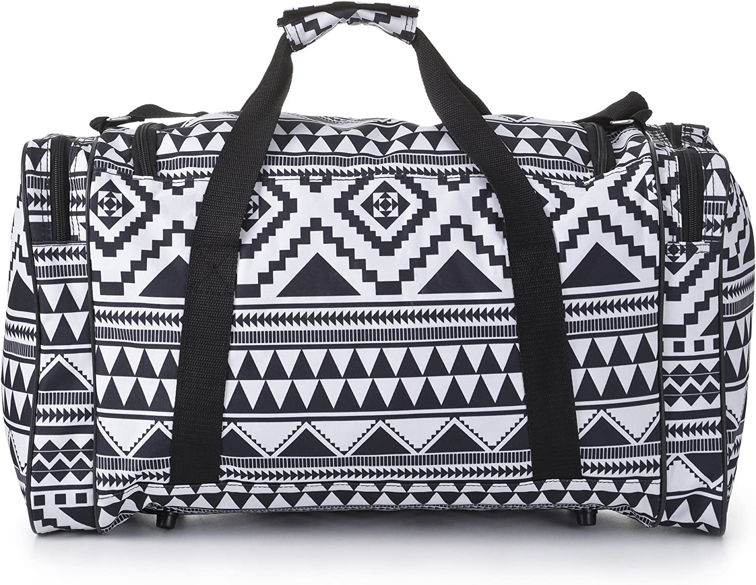 5 Cities HOLD295 BLACK-WHITE SET OF 2 Carry on Lightweight Small Hand Luggage Cabin on Flight /& Holdalls Set of 2