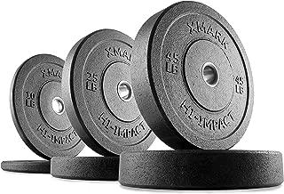 XMark Go Green Bumper Plates, Three-Year Warranty, Hi-Impact Commercial Olympic Bumper Weight Plates, XM-3391