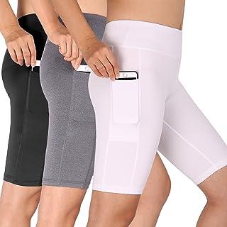 6a78b6fb2 Cadmus Women's High Waist Stretch Running Workout Shorts with Pocket