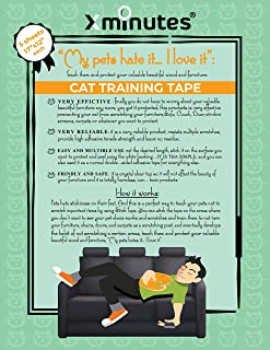 Premium Quality Anti-Scratch Cat Training Sheets | Cat Furniture Scratching Deterrent – Couch Protector | Including Biggest 5 XXL size Sticky SHEETS 12