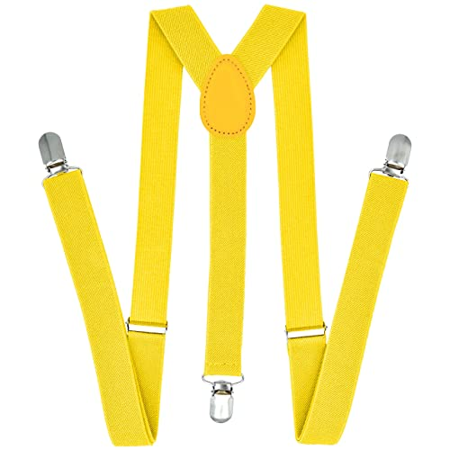 lady girl woman clip on halloween suspenders Yellow
