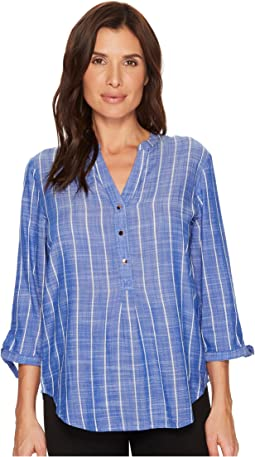 Ivanka Trump - Woven Cotton Tie Sleeve Pullover Blouse