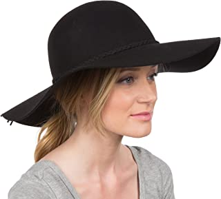 Greta Vintage Style Wool Floppy Hat
