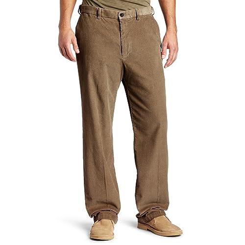 5a6fdb93f9f Haggar Mens Work-To-Weekend Hidden Expandable-Waist Corduroy Plain-Front  Pant
