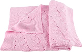 Girls Luxury 100% Cashmere Baby Blanket - `Baby Pink` - Hand Made in Scotland by Love Cashmere - RRP $300