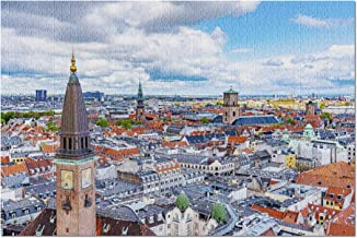 Copenhagen, Denmark - Aerial View of City Skyline 9011687 (Premium 1000 Piece Jigsaw Puzzle for Adults, 19x27, Made in USA!)