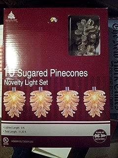 10 Sugared Pinecones Novelty Light Set: Indoor/outdoor