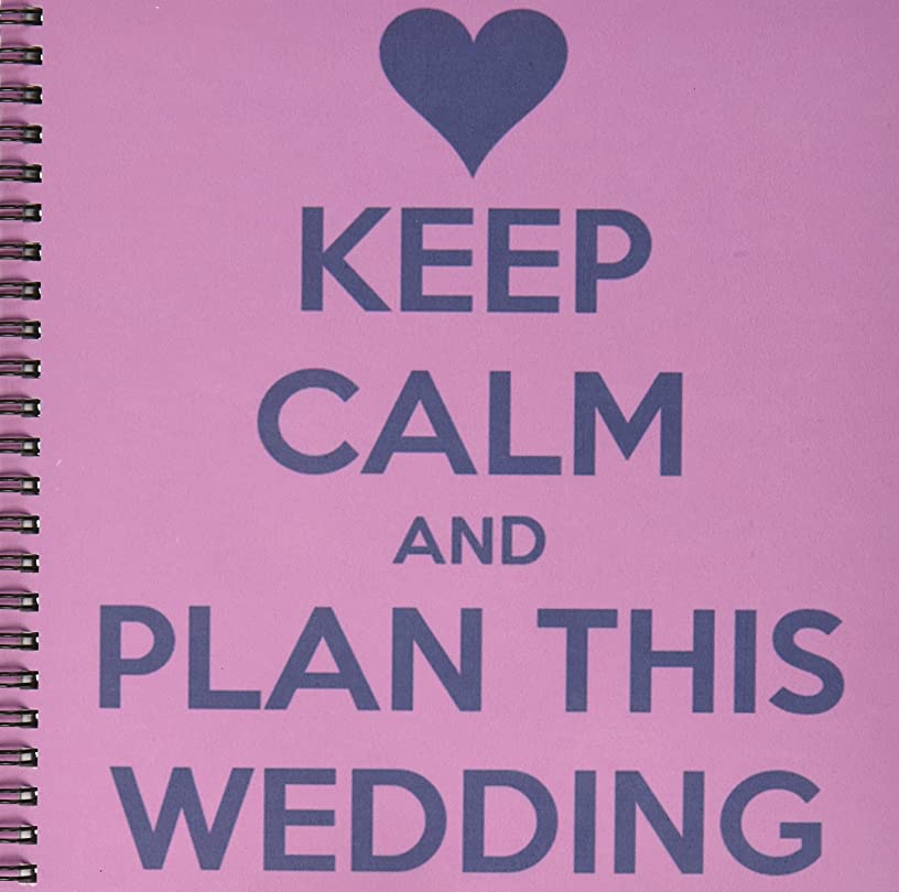 3dRose LLC db_161161_1 Drawing Book, 8 by 8-Inch, Keep Calm and Plan This Wedding Wedding Planner Engagement Bride