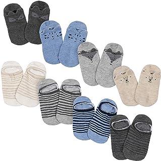 "Gerber Baby Boys' 8-Pack Wiggle Proof ""No Show"" Socks"