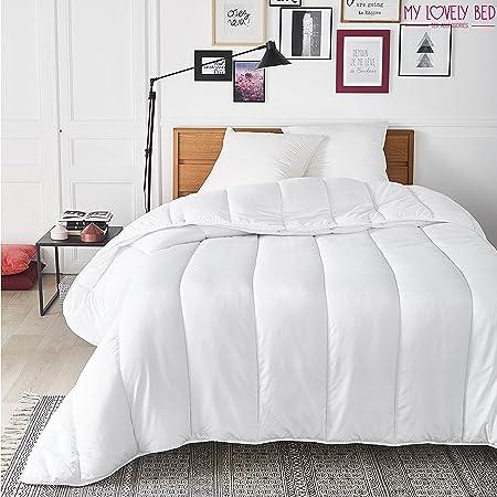 My Lovely Bed - Couette 4 Saisons - 220x240 cm - 3 en 1 (200g/m² et 300g/m² = 500g/m²) - Chaude pour l'hiver/Légère pour l'été