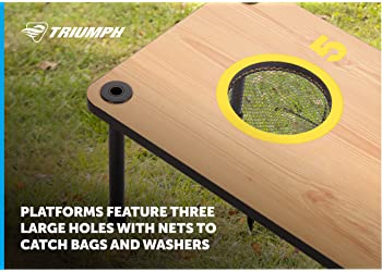 TRIUMPH Washer Toss Combo - Includes 2 Game Platforms, 6 Toss Bags, 6 Washers