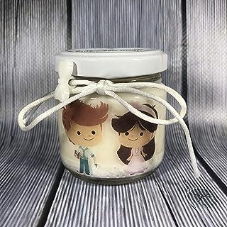 Comunione o Cresima Gemelli 25 candele di cera di soia bomboniere Gemelli maschi o femmine e maschio più femmina Bombonier...