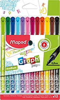 Maped Graph'Peps Fineliner Pens - Medium Tip (Assorted Colours)
