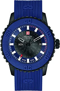 Swiss Military - Swiss Militar Hombre Reloj de Cuarzo con Esfera Analógica Azul Pantalla y Correa de Nailon Azul 6 – 4281.27.003
