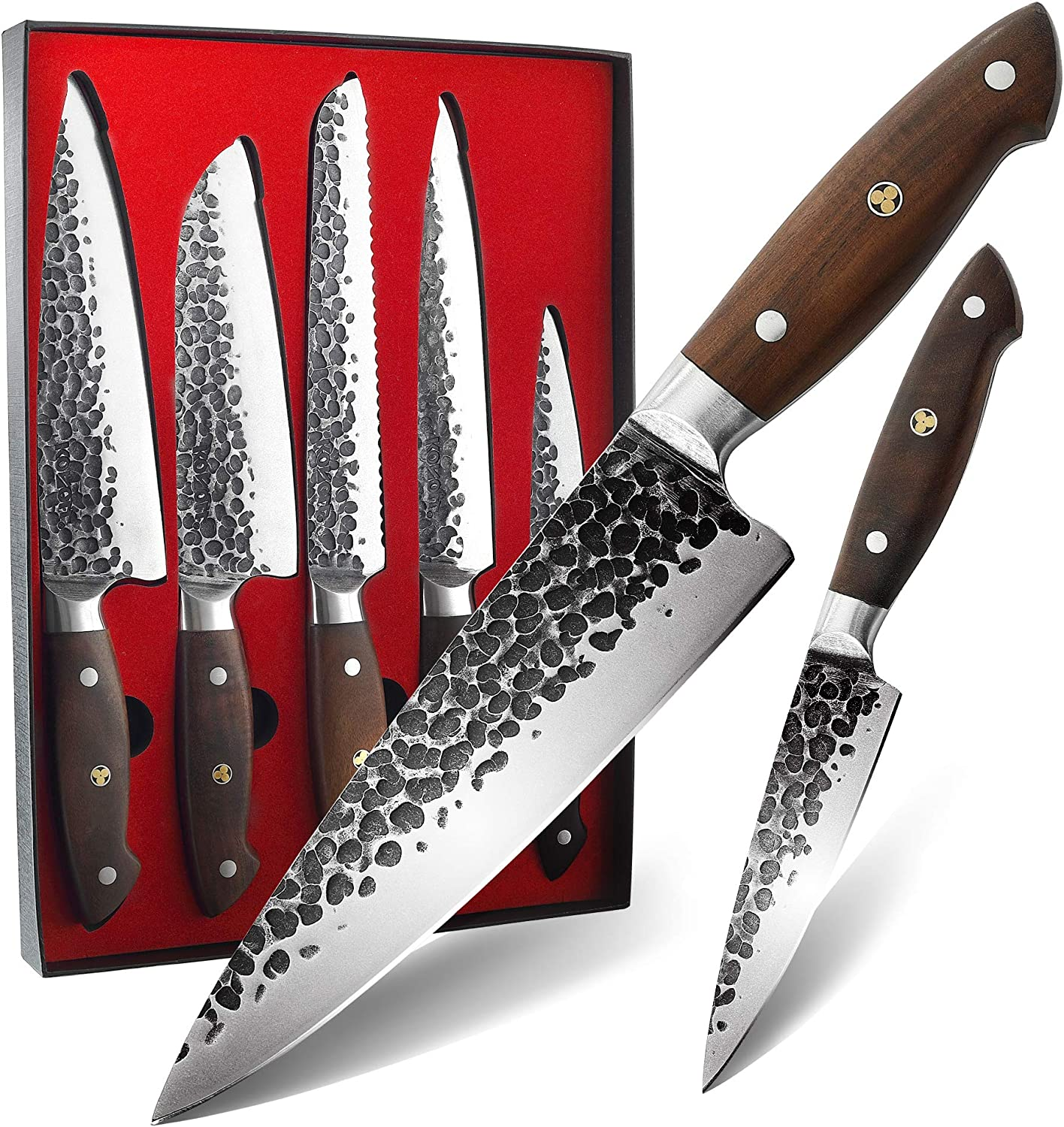 KONOLL Boxed Knife Max 85% OFF Set 5 Store Knives Kitchen Se Chef Piece