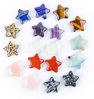 JIC Gem Fashion Natural Stone Mixed Star Charms for DIY Jewelry Making 18 pcs/lot Wholesale