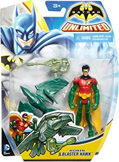 Batman Unlimited: Robin and Blaster Hawk Action Figure