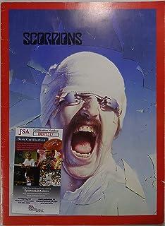Signed Scorpions Autographed Blackout Tour Book Program Jsa # Dd75317