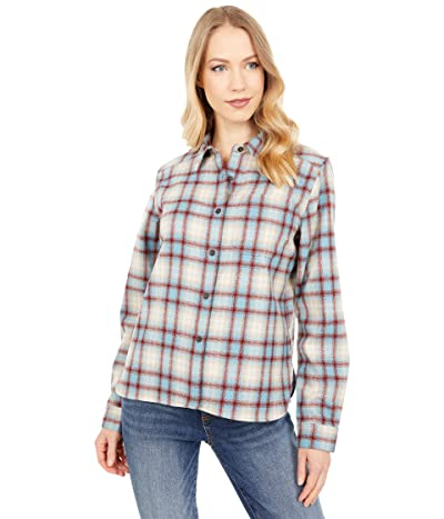 Pendleton Cropped Lodge Shirt (Blue/Red Plaid) Women