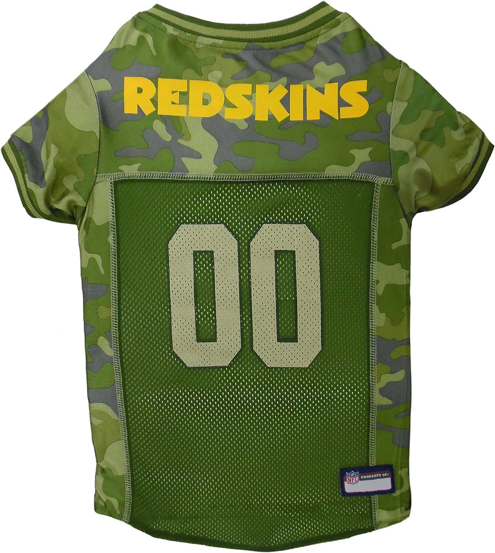 NFL Washington Redskins Camouflage Dog Jersey, Medium.  CAMO PET Jersey Available in 5 Sizes & 32 NFL Teams. Hunting Dog Shirt