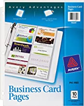 Avery  Business Card Pages, Pack of 10 (76009), Clear