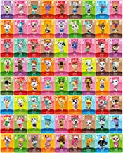 Animal Crossing New Horizons Happy Home Designer NFC Tag Mini Game Rare Character Villager Cards 72pcs for Switch/Switch Lite/Wii U, with Crystal Storage Box, Value Pack, Marshal, Whitney, Ankha