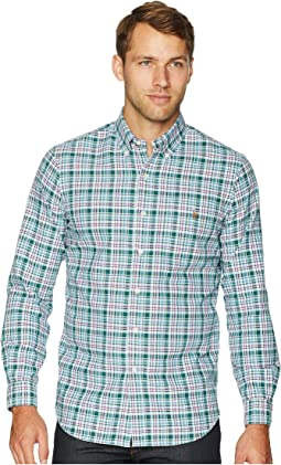 Classic Fit Oxford Tartan