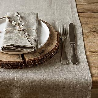 Chemins de table en lin rouge avec motif renne blanc antid/érapant long chemin de table de No/ël pour d/écorations de table de salle /à manger de No/ël 30,5 x 274,3 cm