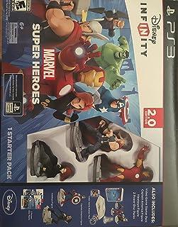 Disney Infinity Marvel Super Heroes 2.0 PS3 with *Captain America & Venom Figure* Starter Pack