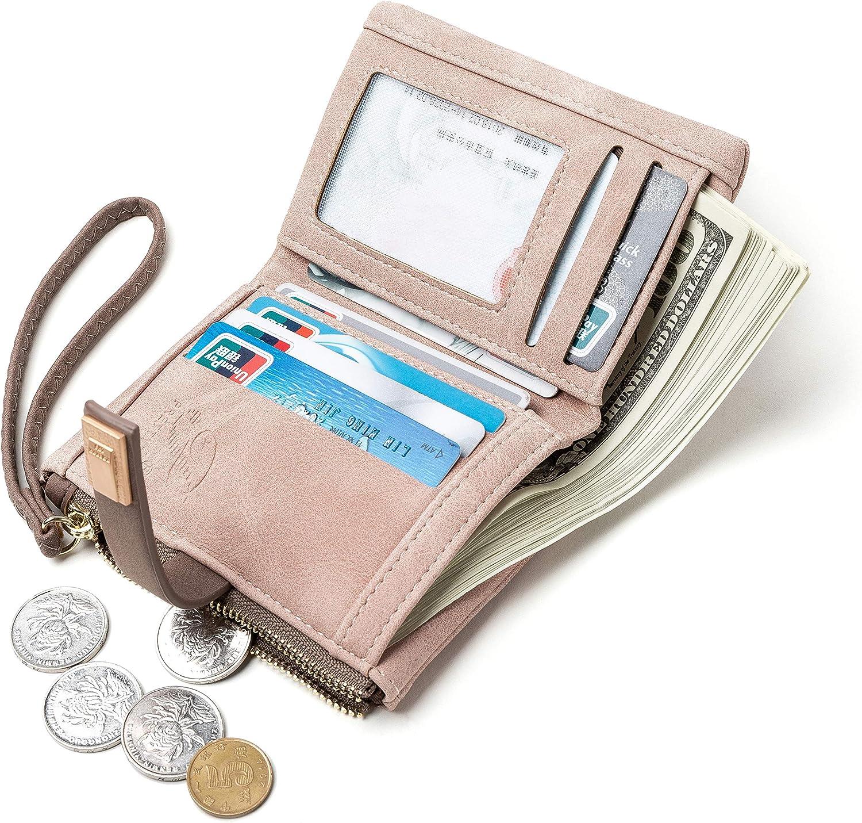 Carteras para las mujeres grandes de embrague cartera de tel/éfono de las se/ñoras y ni/ñas lindo largo delgado doble suave bolso /único de cuero regalo original