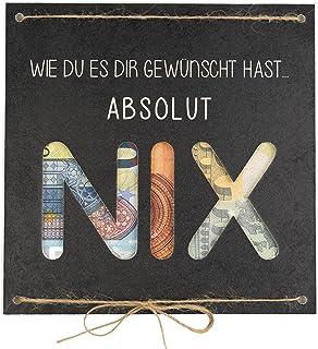 Geldgeschenk als Grußkarte NIX - Nichts gewünscht für Geburtstag Reisen Urlaub Hochzeit - originelle Idee, individuelles G...