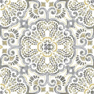 FloorPops FP2947 Antico Peel & Stick Floor Tile, Multi-Color