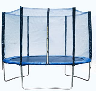 HOME BEYOND USAM 8FT Trampoline Safety Enclosure Net W/Spring Pad
