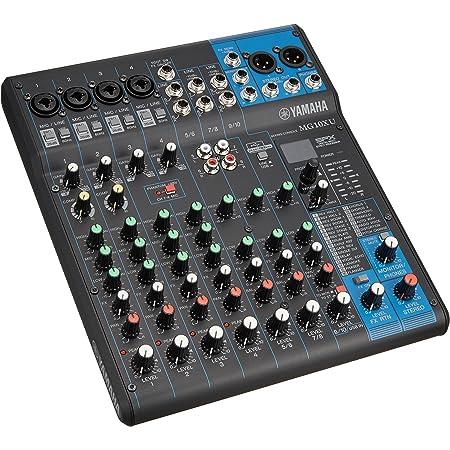 ヤマハ YAMAHA 10チャンネルミキシングコンソール オーディオインターフェイス MG10XU 高品位なデジタルエフェクト24種類を搭載 音楽制作アプリケーション付き