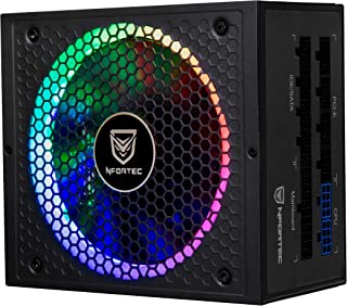 Nfortec Sagitta Fuente de alimentación 80 Plus Gold 650W Full Modular con Retroiluminación RGB en Diferentes Efectos y Colores