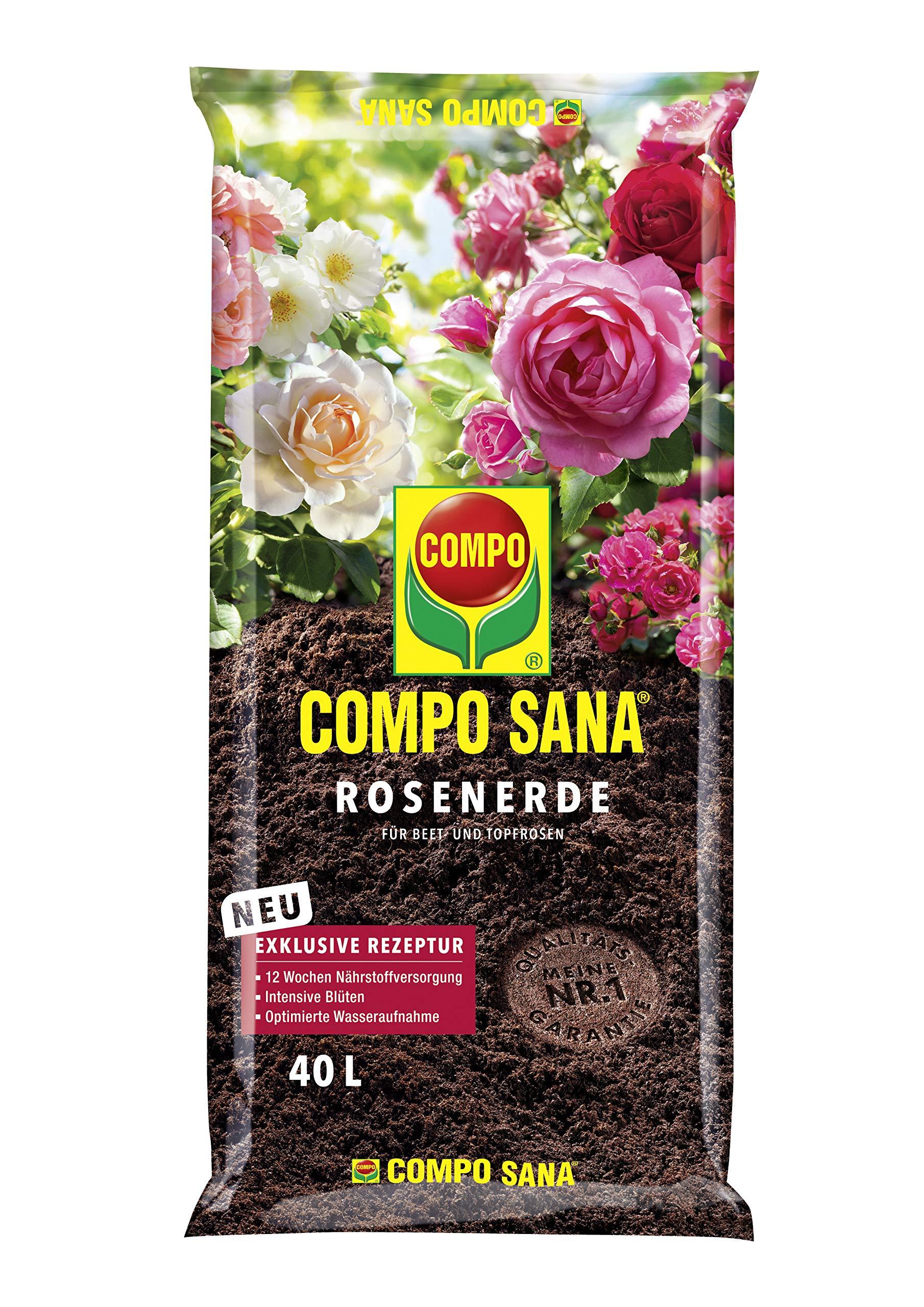 Compo Sana – Tierra para rosales, 40 L: Amazon.es: Bricolaje y herramientas