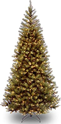 National Tree 7.5 Foot Aspen Spruce Tree with 450 Clear Lights, Hinged (AP7-300-75)