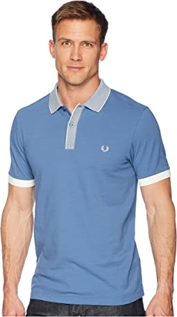 Fred Perry Stripe Collar Pique Shirt