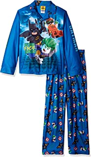 LEGO Batman Boys Coat Pajama Set, Button Front Top, with Pant