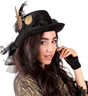 Narwhal Novelties Deluxe Halloween Costume Hat; Black, Velvet 4.5