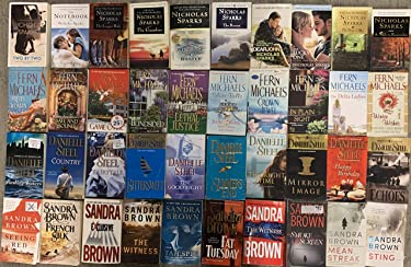 Masters of Romance Collection by Nicholas Sparks, Sandra Brown, Danielle Steel and Fern Michaels 40 Book Set